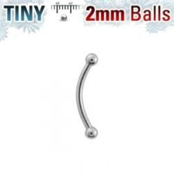 Piercing arcade acier 10mm avec boules de 2mm Ploy Piercing arcade3,30€