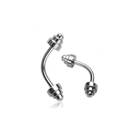 Piercing arcade pics 4mm taille 10mm Darin ARC035