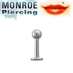 Piercing labret levre Monroe boule Panai LAB058