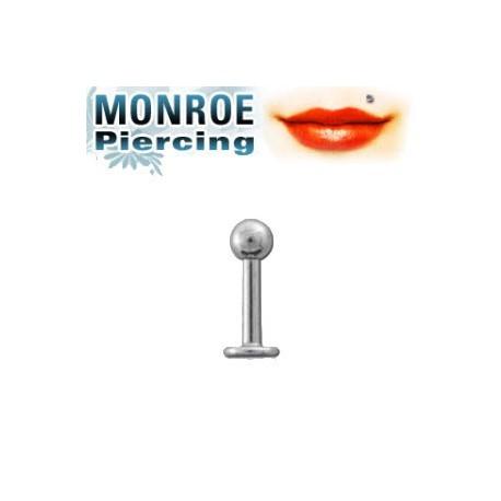 Piercing labret levre Monroe boule Panai Piercing labret2,80€