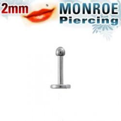 Piercing labret lèvre Monroe boule 2mm Pai LAB059