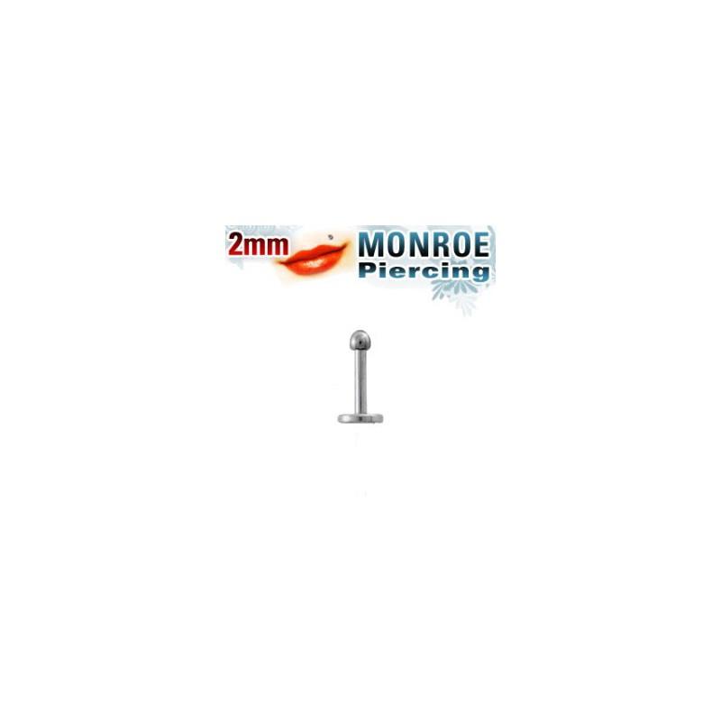 Piercing labret lèvre Monroe boule 2mm Pai Piercing labret2,95€