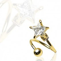 Piercing nombril spirale doré et étoile Kurt Piercing nombril6,80€