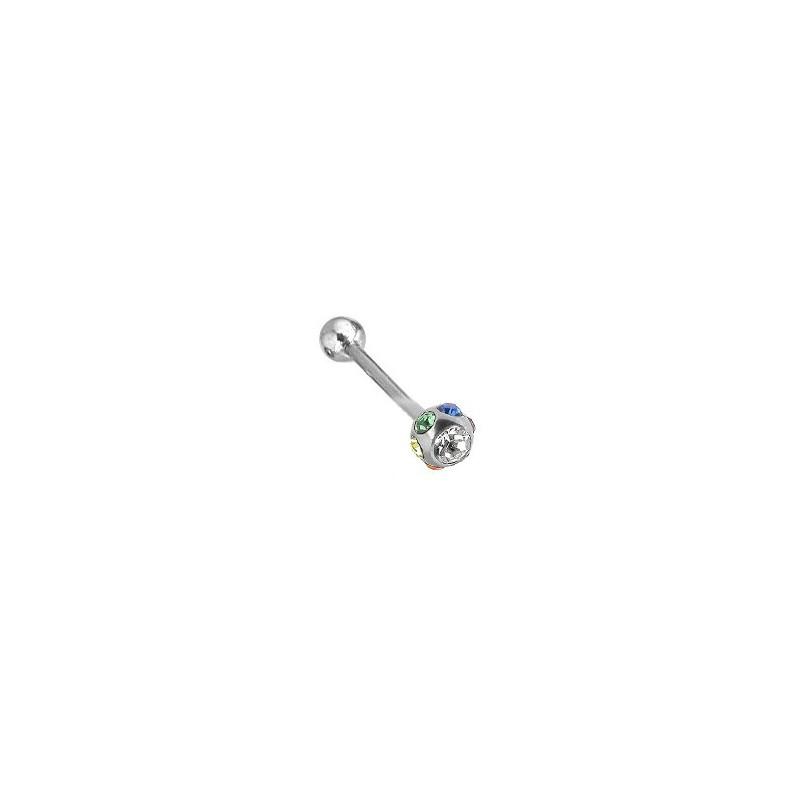 Piercing langue cristal arc en ciel Taf Piercing langue6,60€