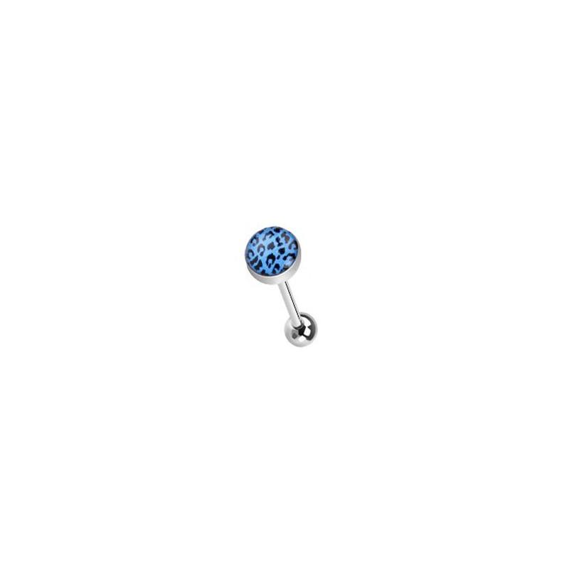 Piercing langue léopard bleu et noir Tigryt Piercing langue3,80€