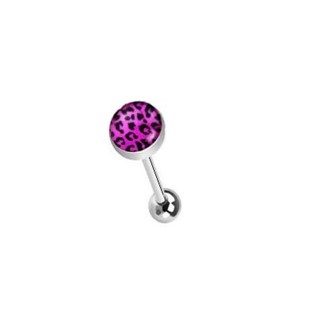 Piercing langue léopard violet et noir vigryt LAN019