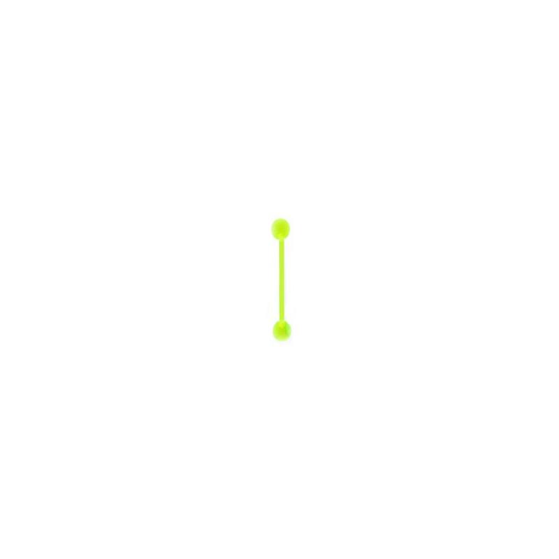 Piercing langue flexible vert jaune 16mm Mitrey Piercing langue2,30€