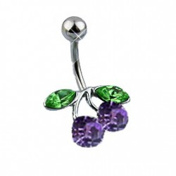 Piercing nombril cerise tanzanite Fetryd