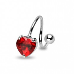Piercing nombril spirale avec un cœur rouge Yani Piercing nombril6,80 €