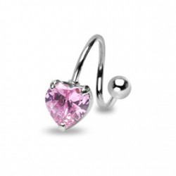 Piercing nombril spirale avec un cœur rose Kiux Piercing nombril6,80 €