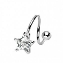 Piercing nombril spirale avec une étoile blanche Hity Piercing nombril6,80€