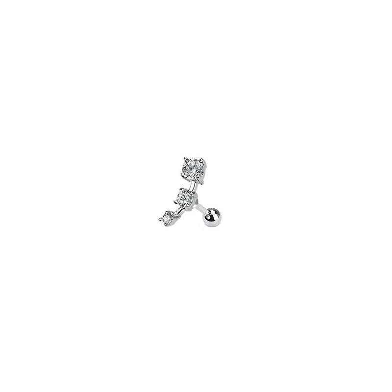 Piercing Tragus cartilage avec zirconiums blanc Piercing oreille6,49€