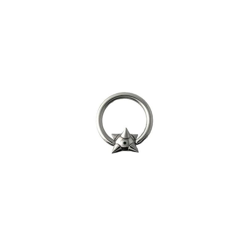 Piercing anneau 12 x 1,6mm boule et pointes Cao Piercing oreille4,20€