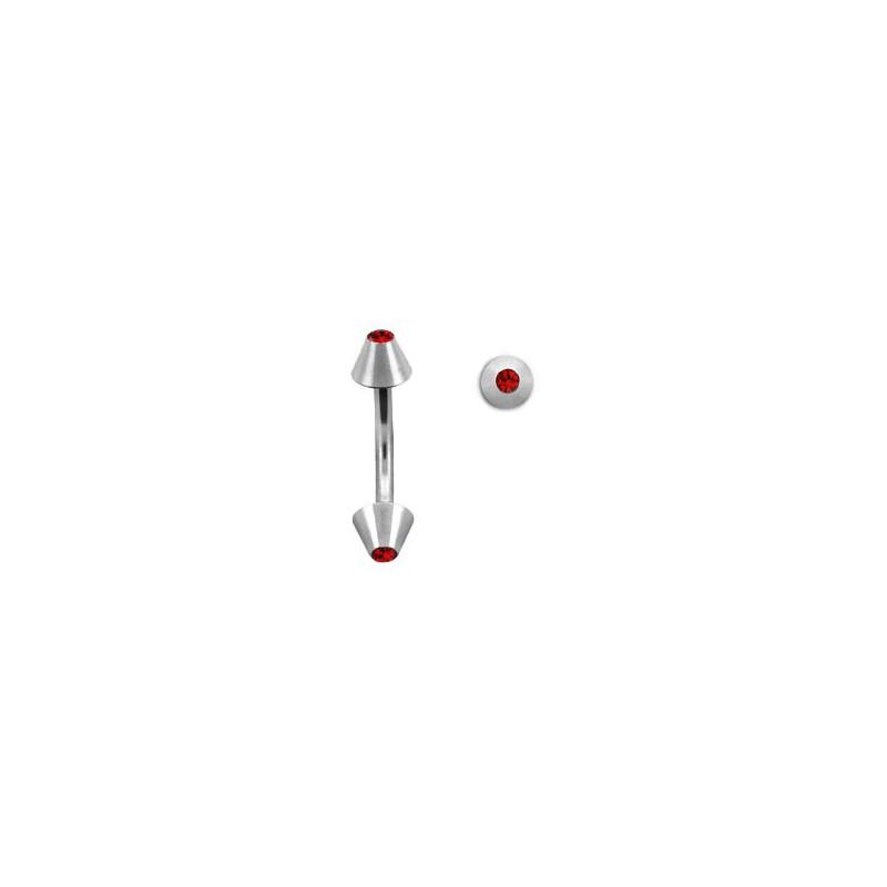 Piercing arcade 8mm avec des pics rouge Sym Piercing arcade2,90€