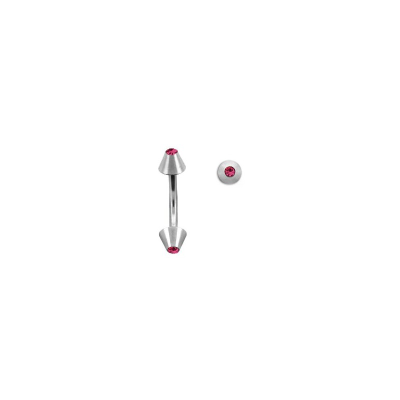 Piercing arcade 8mm avec pointes rose Slaim Piercing arcade2,90€