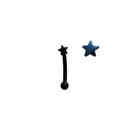 Piercing arcade étoile bleu Chairat