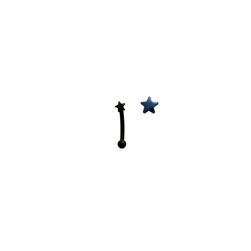 Piercing arcade 8mm avec une étoile bleu Chairat Piercing arcade4,40€
