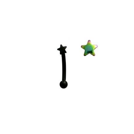 Piercing arcade 8mm avec une étoile arc en ciel Mok Piercing arcade4,40€