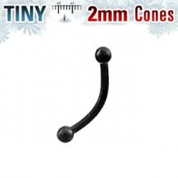Piercing arcade boule noire 2mm Ply