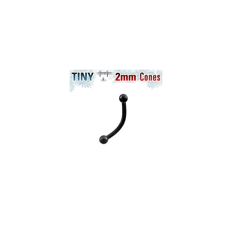 Piercing arcade 8mm avec boules noire 2mm Ply Piercing arcade4,80€
