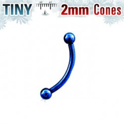Piercing arcade acier bleu boule 2mm Pyk