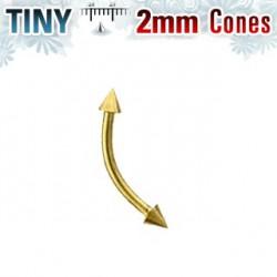 Piercing arcade 8mm pointes doré 2mm Glar ARC054