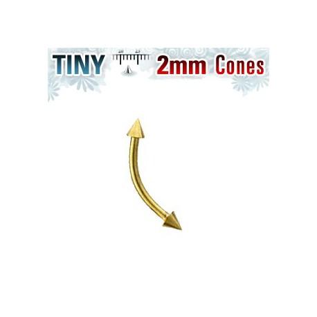 Piercing arcade 8 x 1mm avec pointes doré 2mm Glar Piercing arcade4,80€