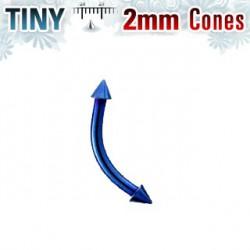 Piercing arcade pointe bleu 2mm Gleyr