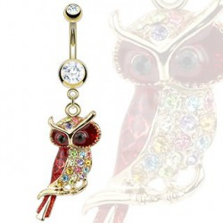 Piercing nombril doré hibou Kowit Piercing nombril12,50 €