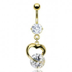 Piercing nombril coeur d'amour Ouwit NOM113