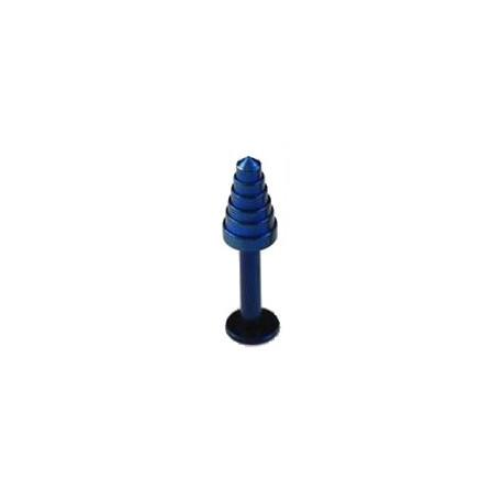 Piercing labret lévre pointe bleu Potip LAB009