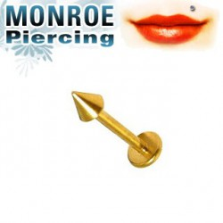 Piercing labret lévre 6mm pointe doré 2,5mm Maner Piercing labret3,49 €