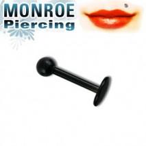 Piercing labret lèvre 8mm et boule noire Vun Piercing labret3,90€