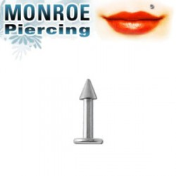 Piercing labret lèvre Monroe pointe 2,5mm Pati LAB069