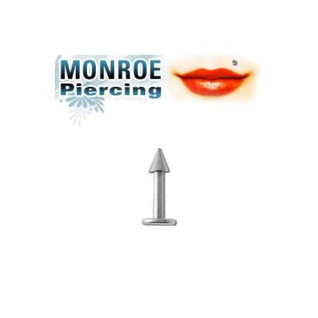 Piercing labret lèvre Monroe pointe 2,5mm Pati LAB069