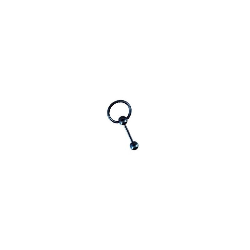 Piercing langue 10mm anneau bleu Pama Piercing langue4,49€