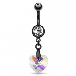 Piercing nombril noir avec un cœur blanc Alur Piercing nombril8,80€