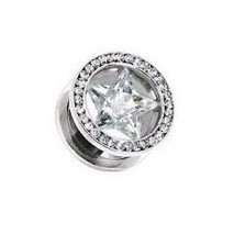 Piercing tunnel 12mm avec étoile blanche Thery Piercing oreille12,49€