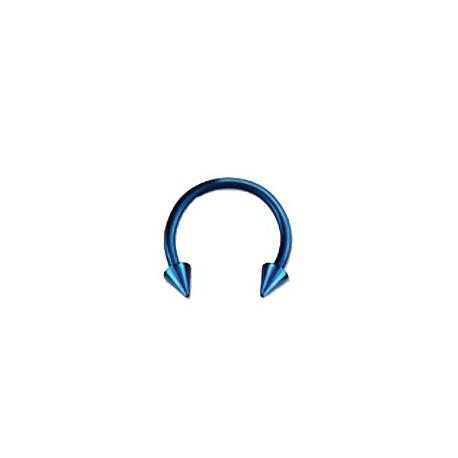 Piercing fer à cheval 10mm bleu et pointes Chy Piercing oreille4,60€