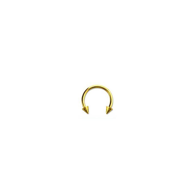 Piercing fer à cheval 10mm doré et pointes Tair Piercing oreille4,60€