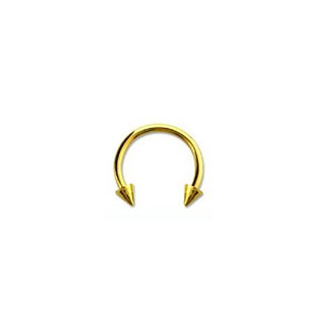 Piercing fer à cheval 12mm doré et pointes Ril FER009