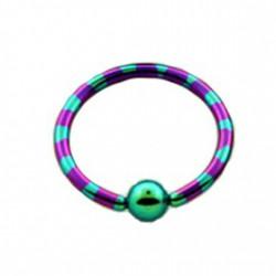 Piercing oreille anneau 12mm violet vert Toly
