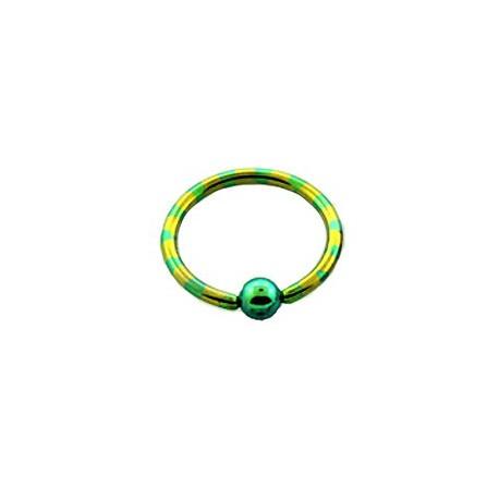 Piercing anneau 14 x 1,6mm jaune vert Puly ANN013