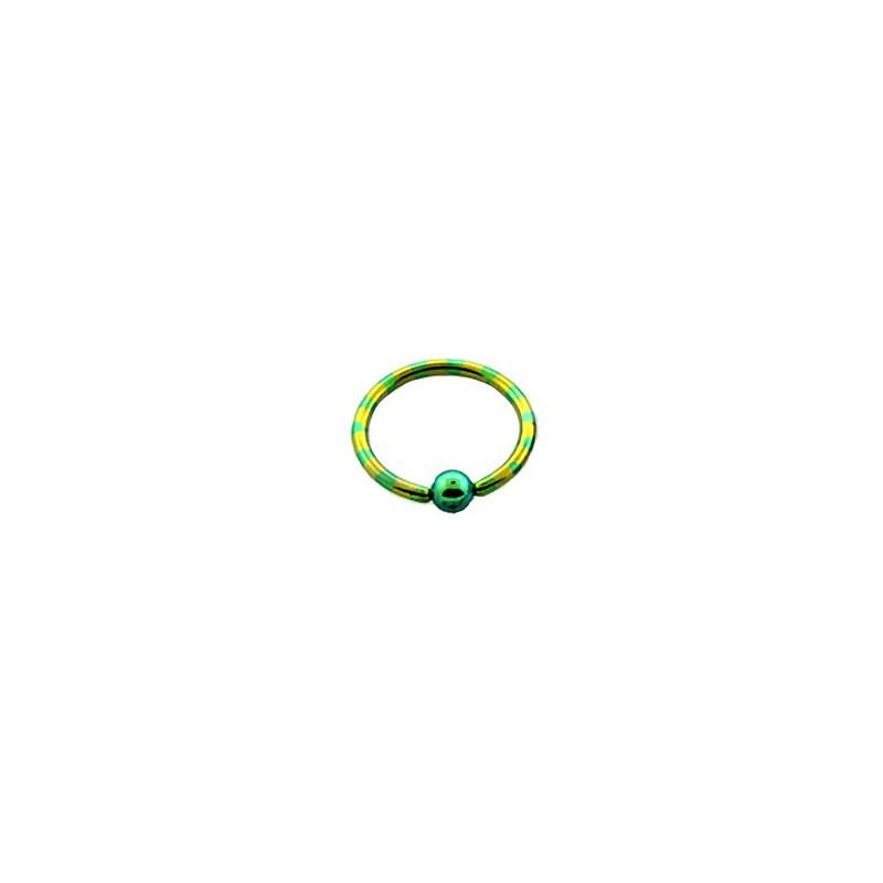 Piercing anneau 14 x 1,6mm jaune vert Puly Piercing oreille4,95€