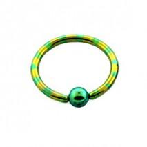 Piercing anneau 8 x 1,2mm jaune vert gyly Piercing oreille4,60€