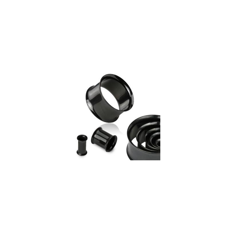 Piercing tunnel écarteur noir 6mm Mou Piercing oreille4,60€