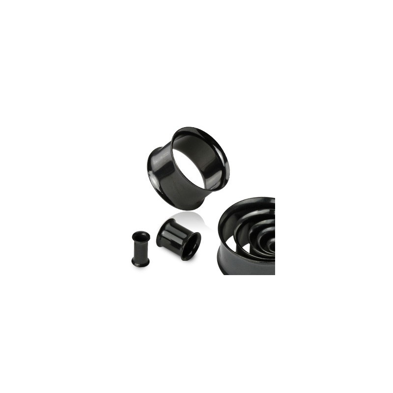Piercing tunnel écarteur noir 10mm Muj Piercing oreille5,60€