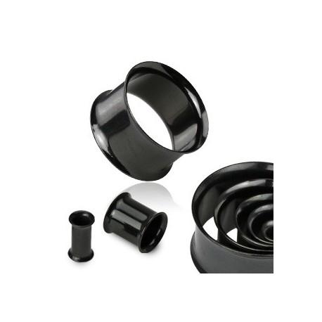 Piercing tunnel écarteur noir 45mm Wux PLU062