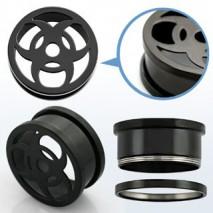 Piercing tunnel noir tribal 16mm Xyun Piercing oreille10,49€