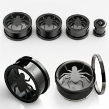 Piercing tunnel noir araignée 12mm Lavun Piercing oreille8,49€